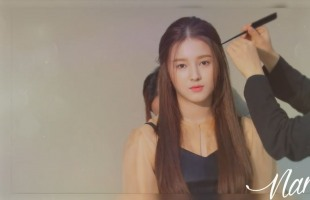[V Report Plus] Momoland's Nancy exudes girlish charm in cosmetics photo shoot