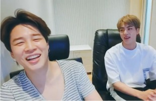 [V Report] Is BTS' Jimin writing a song?
