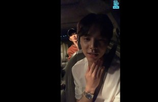 [V Report] NCT members update fans in car