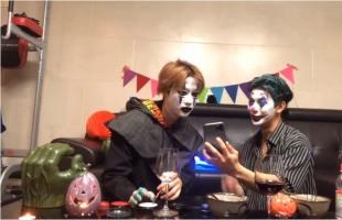 [V Report] iKON hosts online Halloween party