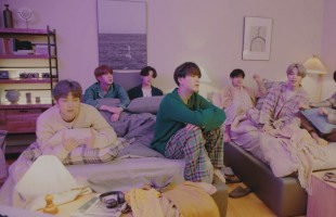 "[V Report] ""On My Pillow"" shows BTS singing ""Life Goes On"" from bed"