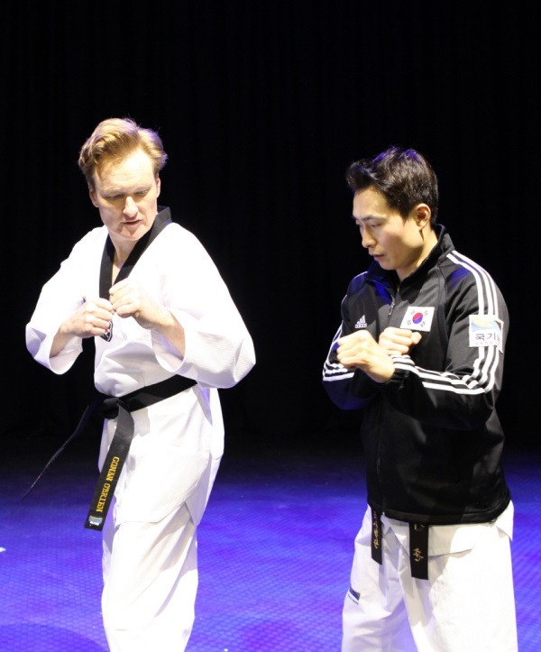 Image result for conan obrien taekwondo