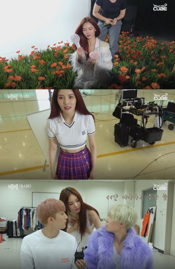 [V Report] Behind-the-scenes of HyunA's music video shoot