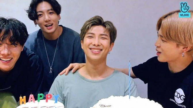 V Report Bts Celebrates Rm S Birthday