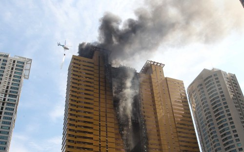 Smoke Billows From A 38story Apartment Building In Fire Busan Last Month Korea Herald File Photo