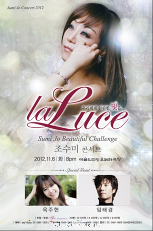 Sumi Jo To Hold La Luce Concert
