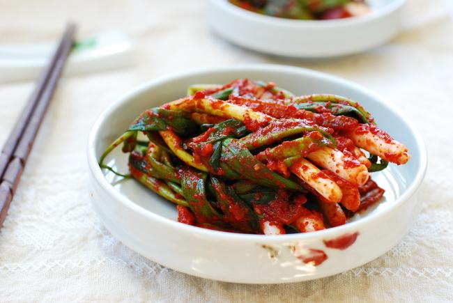 Home Cooking] Pa kimchi (green onion kimchi)