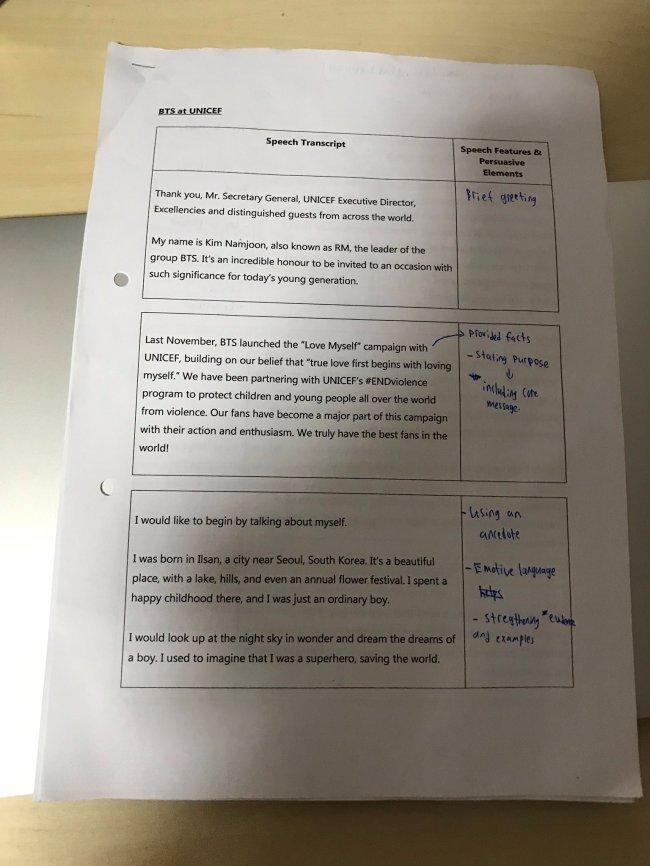 BTS RM's UN speech used in textbooks, exams worldwide