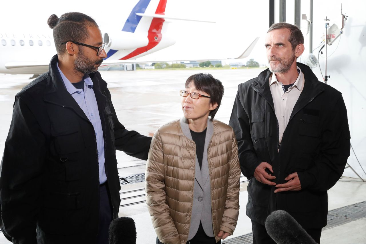 S  Korean woman freed after kidnapping in Africa remains in