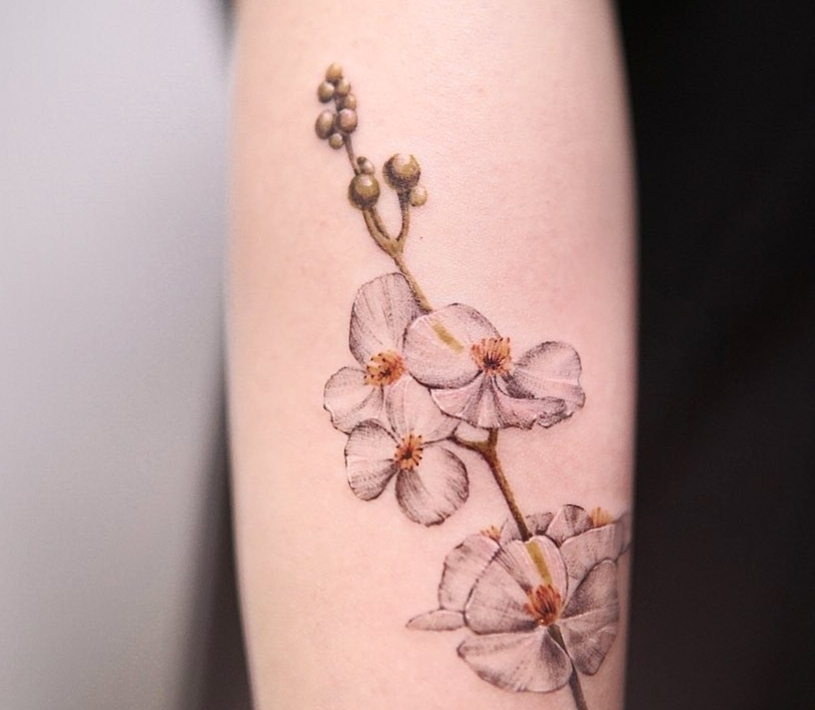 Flower tattoo (Courtesy of tattooist, Lee Yoon-seo)