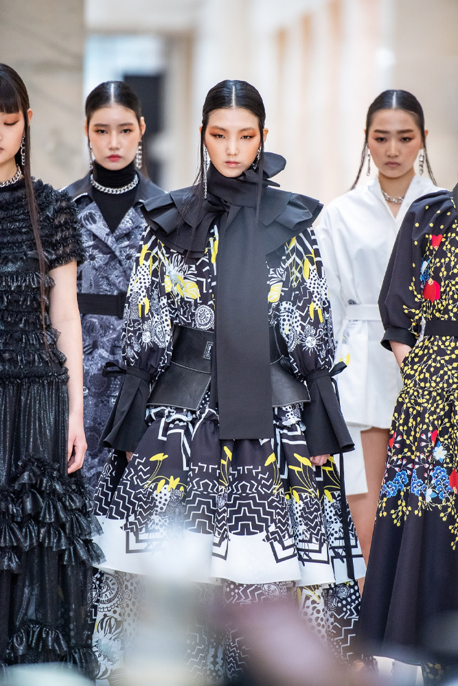 Doucan presents a collection at the National Museum of Korea. (Seoul Fashion Week)