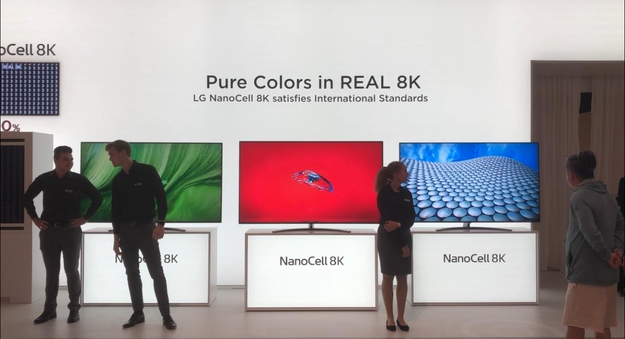 IFA 2019] LG says Samsung's 8K TVs fail internationally