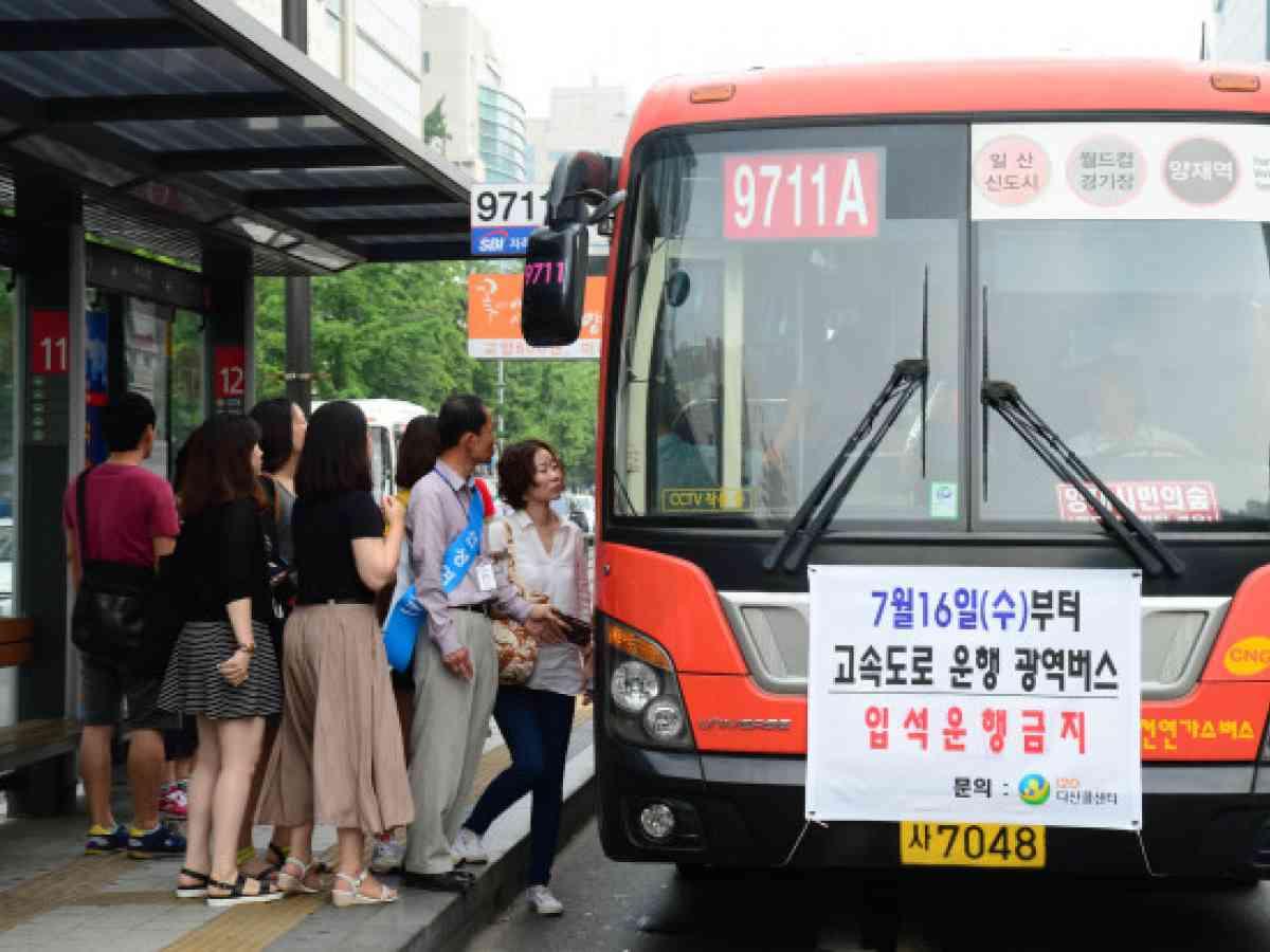 intercity bus system korea