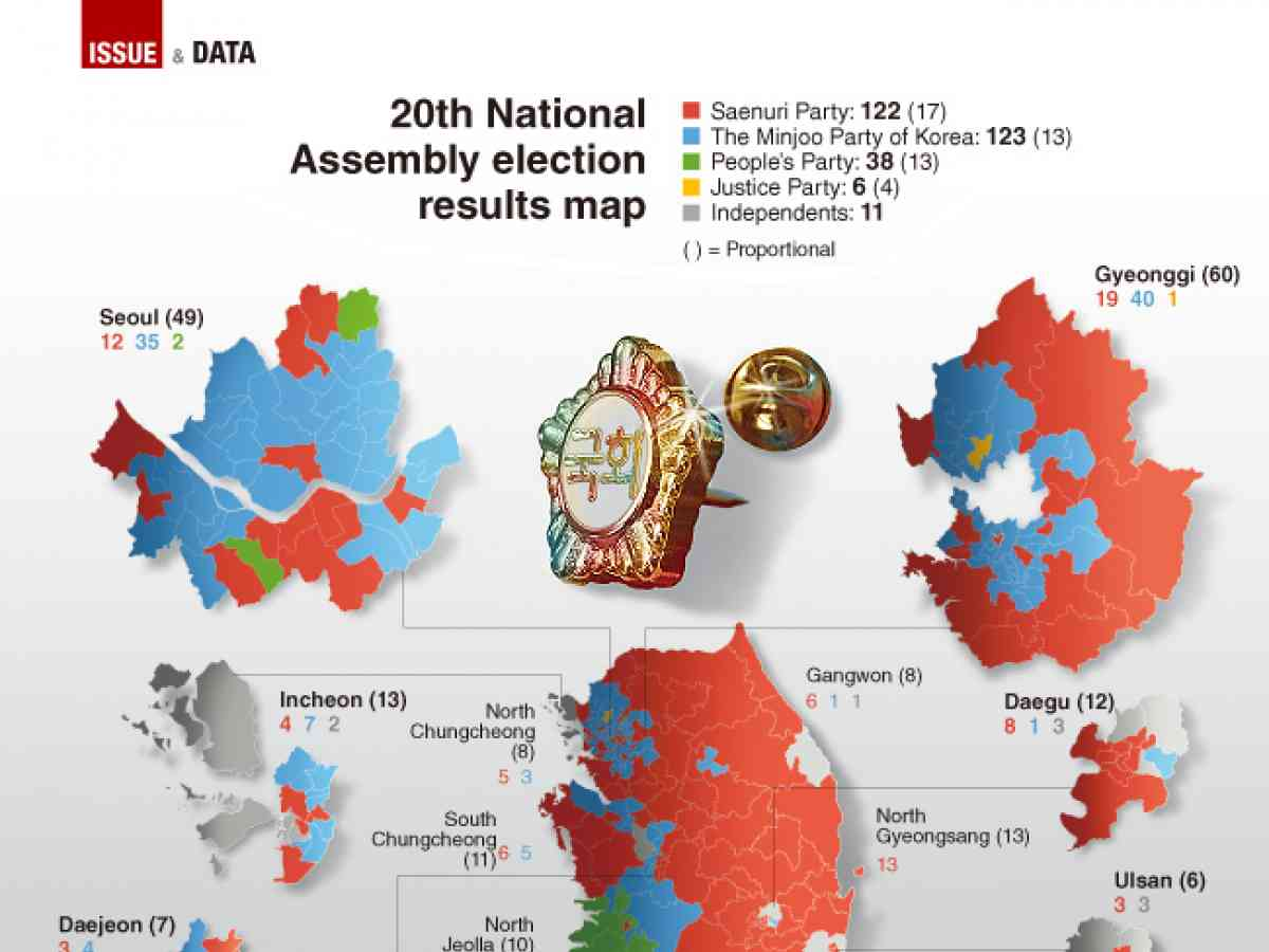 Graphic News 20th National Assembly Election Results Map