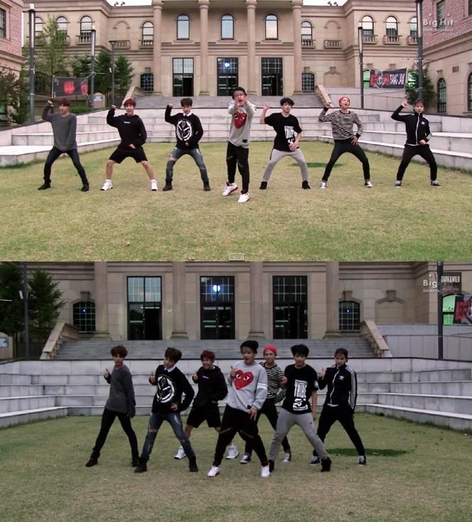 BTS reveals choreography of 'Hormone War'