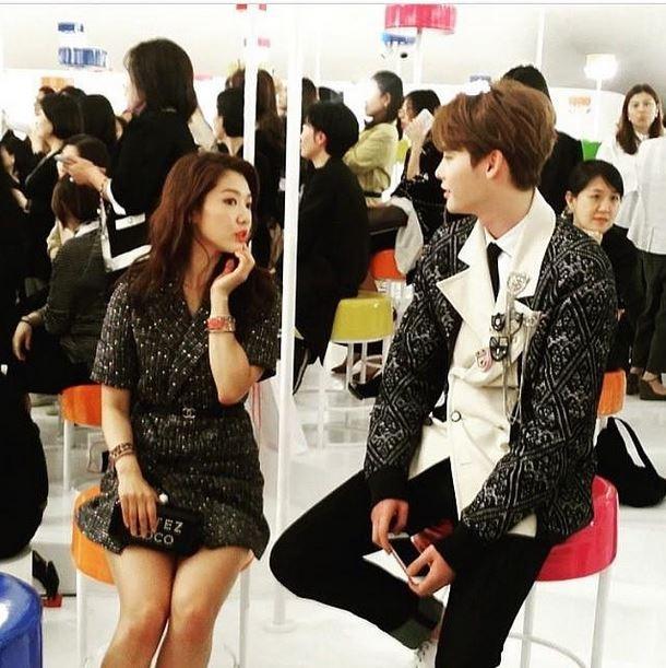 Park Shin-hye, Lee Jong-suk reunite at Chanel show