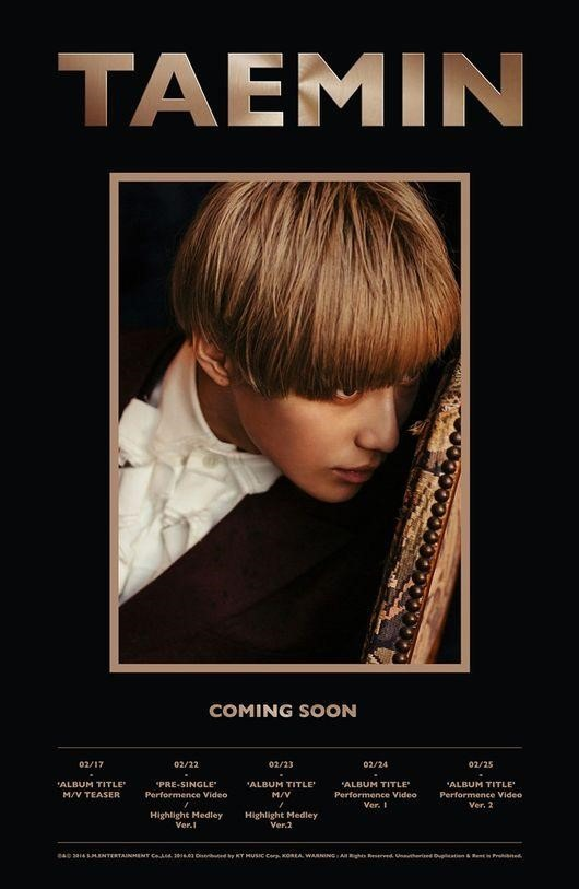 SHINee Taemin to strike back with solo act