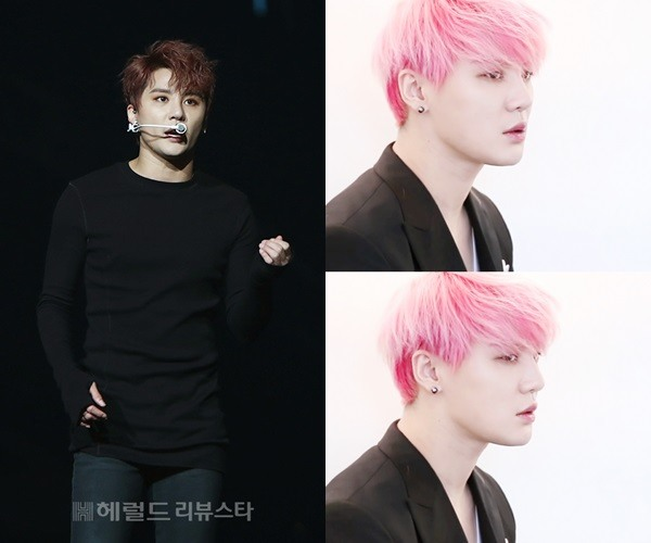 Male idols with pink hair