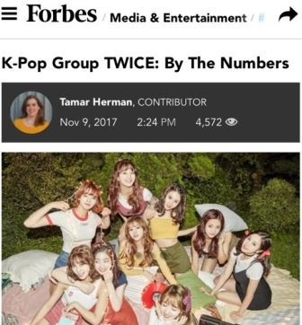 Forbes spotlights Twice's success in numbers