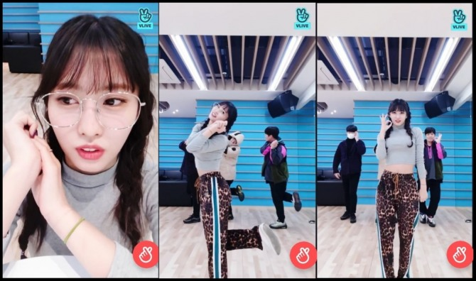 V Report] Twice's Momo gives Yes or Yes dance tutorial