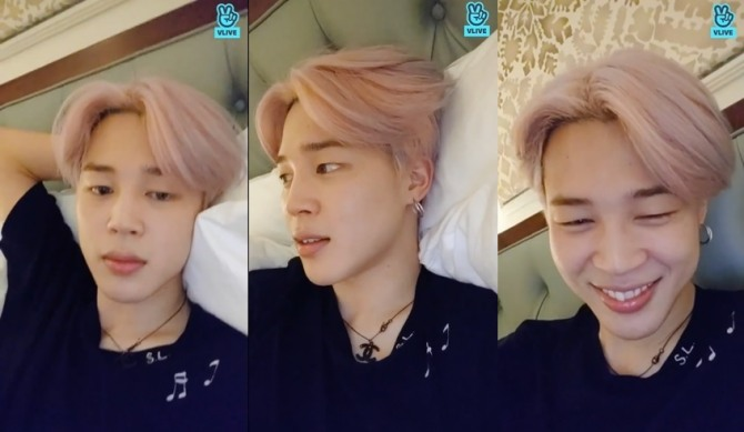 V Report] 'Promise' originally a dark song, says BTS' Jimin