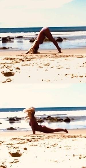 [할리웃POP]브리트니, 멀리서 봐도 탄탄한 비키니 몸매..관리 열심히
