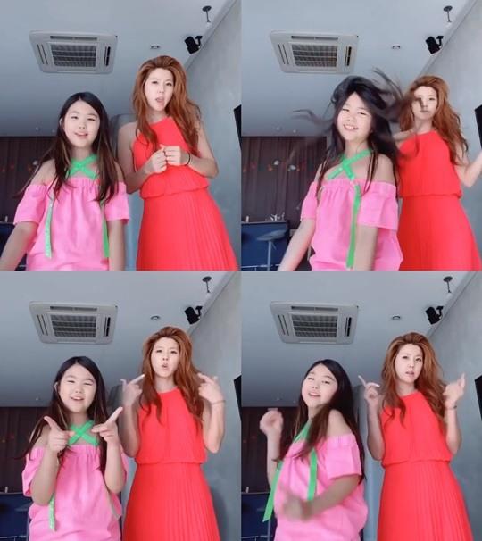'주영훈♥'이윤미, 딸 아라와 롱드레스 입고 댄스..